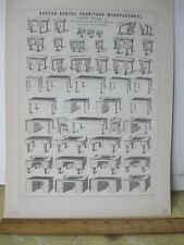 Vintage Print,SCHOOL FURNITURE,Samuel Wales Jr,Boston,1856