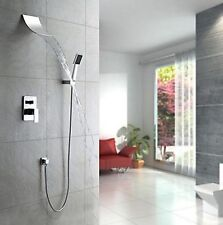Bathroom Shower Sets Wall Mounted Waterfall Faucet Mixer Taps Chrome Finish Use