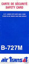 Safety Card - Air Transat - B-727M - Blue - c1991 (S2506)