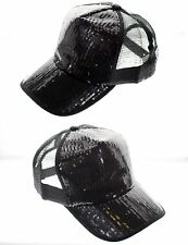 Sparkle Bling Party Glitter Dance Sequin Women Girl Cap Hat Baseball Trucker