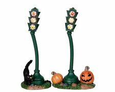 Lemax Spooky Town Halloween Spooky Traffic Light 04184 Pk of 2 Nib