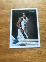 #229 NICOLAS CLAXTON 2019-20 Panini Donruss RATED ROOKIE RC NETS