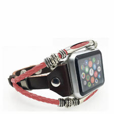 Marval Power Leather Wrist Strap Apple Watch Band for iWatch Series 3 2 1 38/42