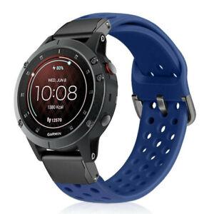 For Garmin Fenix 6X Pro Solar Quick Release Metal Leather Wristwatch Bands Strap