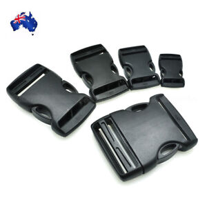 2x Black Plastic Buckle Quick Release for Clip Belt Backpack Luggage