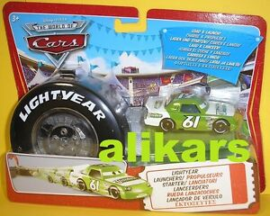 Lightyear Launchers VITOLINE Starter + Piston Cup racer #61 Disney Cars Mattel