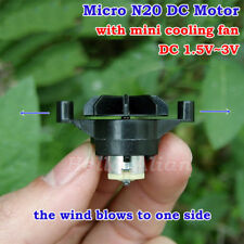 DC 1.5V-3V Micro Mini N20 Motor with Small Cooling Fan DIY Hobby Toy Fan Model