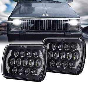 5''x7'' 6x7 inch Black For Jeep Cherokee XJ DOT Approved Led Headlight DRL 105W