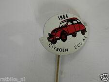 PINS,SPELDJES JAREN 1964 RED CLASSIC CARS CITROEN 2CV AZ VINTAGE VERY OLD