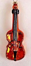 NEW! Specialty Blown Glass Violin Musical Instrument Christmas Tree Ornament