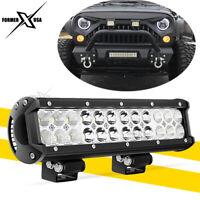 12inch 72W LED Light Bar Work Dual Row Spot Flood Combo Beam 4WD Offroad ATV SUV
