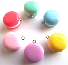 NEW!! GORGEOUS MACAROON CHARMS MADE FROM RESIN - INCLUDES FAST FREE SHIPPING