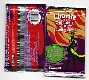Charlie and the chocolate factory trading cards sealed pack