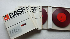 "7 BASF 300m 1/4"" rot - farblos Vorlaufband Tonband Vorspannband reels  int 63"