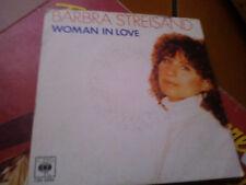"7"" BARBRA STREISAND WOMAN IN LOVE RUN WILD VG+"