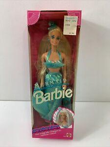 Vintage Mermaid Barbie Doll #1434 Mattel Pastel Rainbow Hair 1991 New in Box