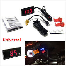 1x Red LCD Digital Universal Motorcycle Water Temp Temperature Gauge Thermometer