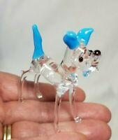 "Great Dane Dog Hand Blown Art Glass Figurine 2.5""h"