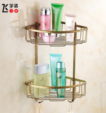 Wall Mount Corner Bathroom Shower Shelf Gel Shampoo Basket Home Storage Rack