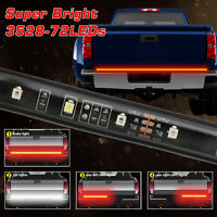 Truck Tailgate Light Strip Bar 72 LED Strip Turn Signal Tail Stop Lamp 4Function