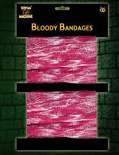 2 x Halloween Sanglant gaze pansements accessoire robe fantaisie sang colorées gaze Bandage