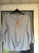 Pale Blue & Silver Ladies Blouse Size 16 By Spirt  M&Co