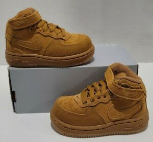 Nike Air Force 1 Mid LV8 (TD) Wheat/Gum Size 5c NEW 859338-701 No Lid