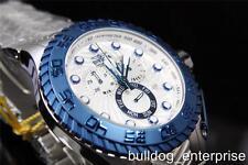 Mens Invicta Pro Diver Razor Silver White Blue Chronograph Watch New 12944
