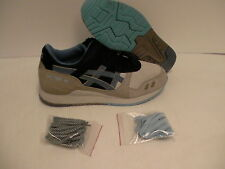 Asics men's shoes gel lyte iii light grey captain blue size 8.5 new with box