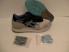 Asics men's shoes gel lyte iii light grey captain blue size 9 new with box