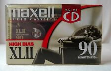 Maxell CD High Bias XLII 90 Minute Blank Audio Cassette Tapes New Single NIP
