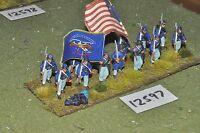 25mm ACW / union - american civil war infantry plastic 13 figs - inf (12597)
