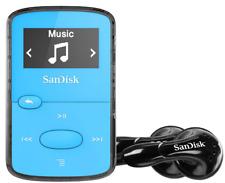 SanDisk Sansa Clip Jam 8GB MP3 Player with FM Radio holds 2000 Songs - Blue
