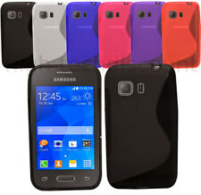 Housse etui coque silicone gel fine pour Samsung G130 Galaxy Young 2 + film