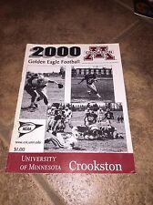 2000 UNIVERSITY OF MINNESOTA CROOKSTON COLLEGE  FOOTBALL MEDIA GUIDE b4