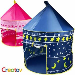Creatov Kids Tent Toy Prince Playhouse - Toddler Play House PINK Castle for K...