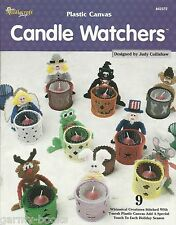 Candle Watchers Tea Light Holders Judy Collishaw Plastic Canvas Patterns NEW