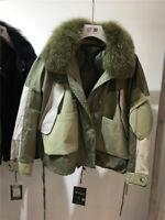 2019-20 Damen Designer Inspiriert Echt Pelz Down Jacke Mantel Outwearlinie Parka