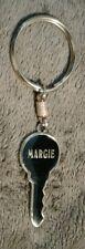 Margie Key Shaped Metal Keychain, NICE!!!