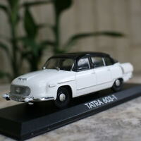 1/43 Scale Vintage Tatra 603-1 Model Car Diecast Vehicle Collection Gift White