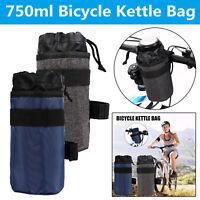 Bike Handlebar Stem 750ml Kettle Bag Cycling Insulated Water Bottle Holder Pouch