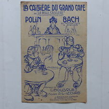 Partition La caissiere du grand café  POLIN   BACH Illustration POUSSTHOMIS