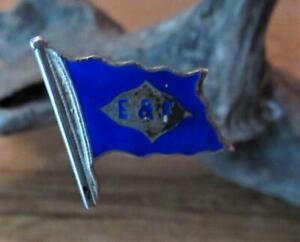 Unusual 1913 Souvenir Hat Pin, Elders & Fyffes Shipping, Enamel on Silver