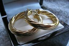 STUNNING 9CT GOLD HOOP EARRINGS GF, ALMOST SOLD OUT ref 0003