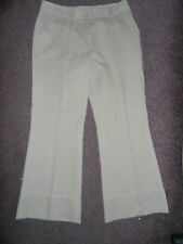 PER UNA DARK BEIGE CHINOS TROUSERS WITH FRONT SEAM SIZE 12 SHORT NEW