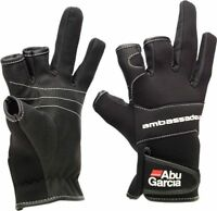 NEW ABU GARCIA STRETCH NEOPRENE FISHING GLOVES Baiting Gloves sea gear