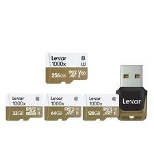 Lexar Professional 1000x 32GB 64GB microSDHC microSDXC UHS-II Cards U3 V30 4K