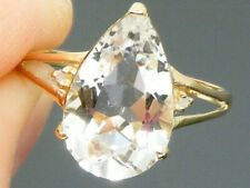 9ct Gold  Kunzite & Diamond Ladies Ring size O