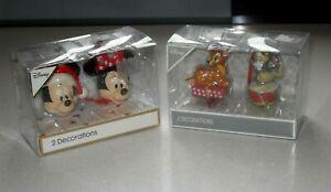 4 Disney Bambi Thumper Mickey & Minnie Christmas Tree Decoration