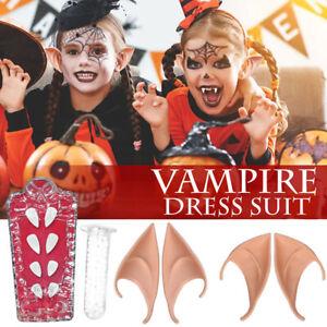 Halloween Vampire Teeth Fangs Dentures Props Elf Ears Costume ProRI
